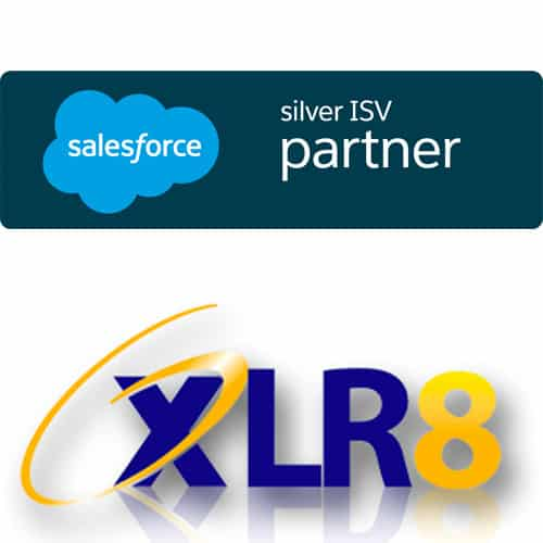 logos for XLR8 and Salesforce