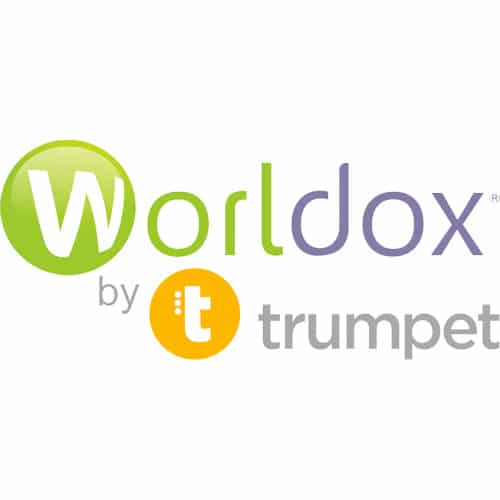 Worldox by Trumpet logo
